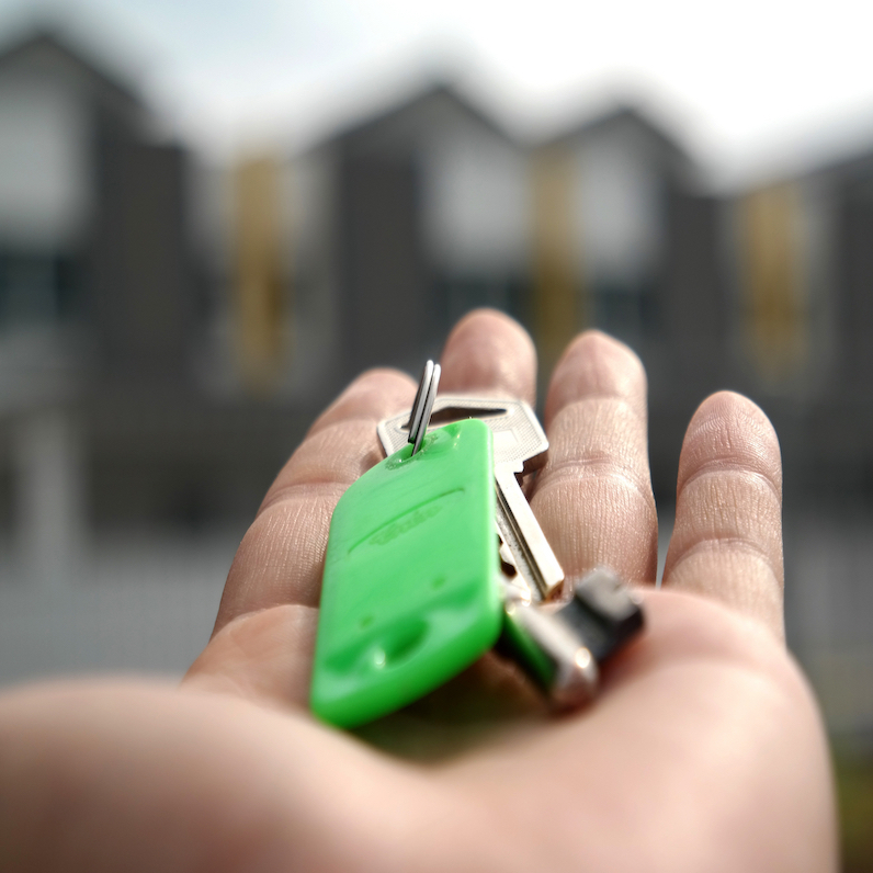 home buyer hand keys